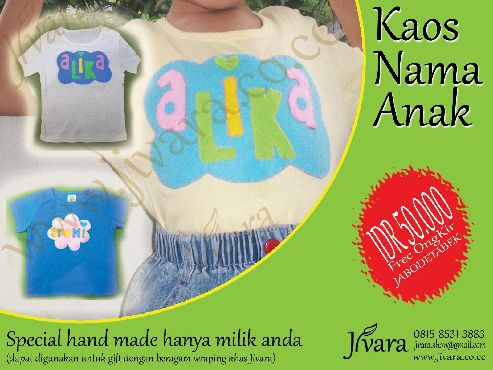 Baju Nama Anak (hand made) | Jivara shop's